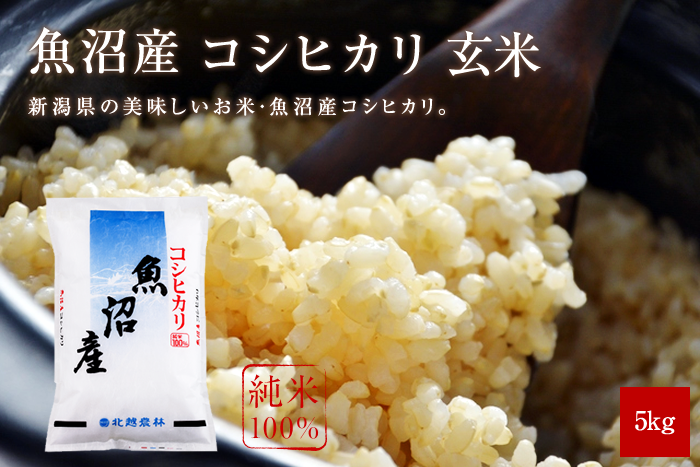 魚沼産コシヒカリ玄米5kg(5kg×1袋)
